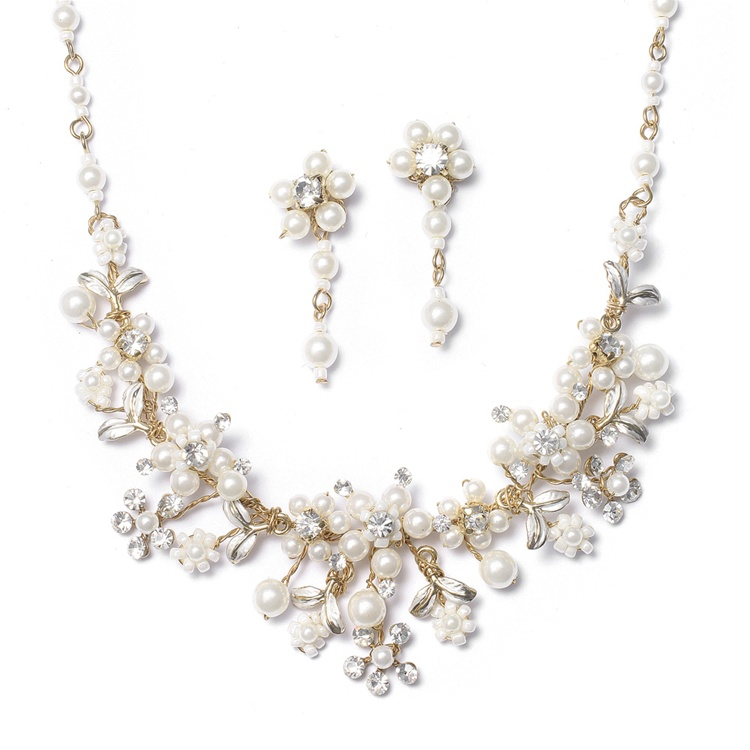 Gold Amp Ivory Bridal Jewelry Set