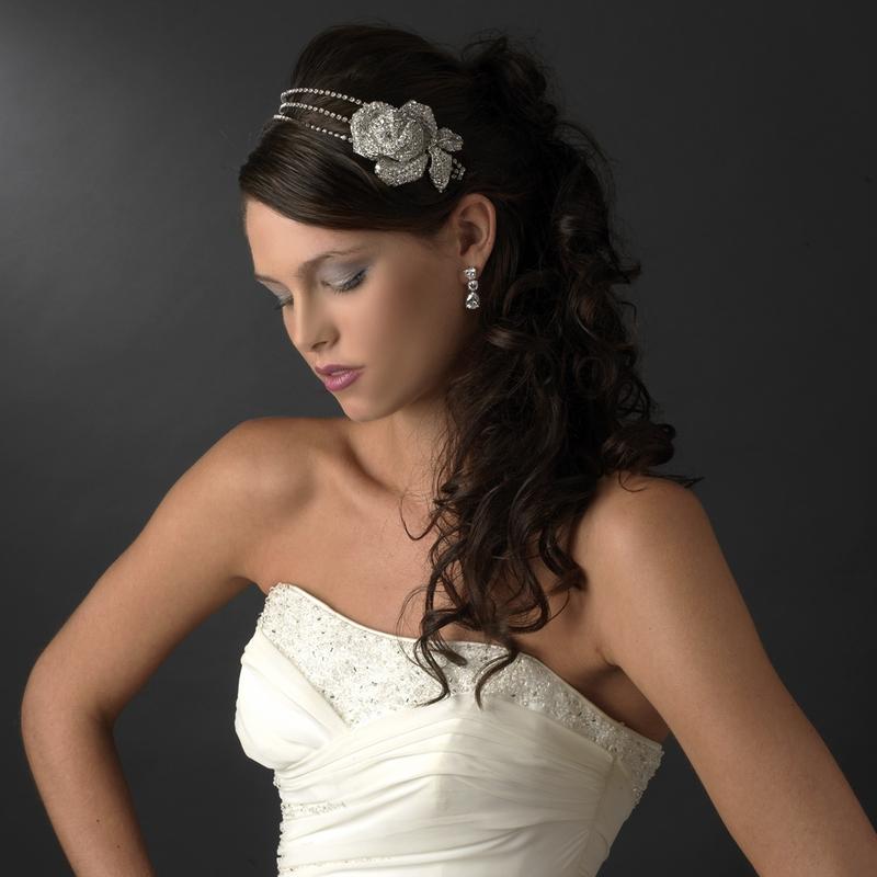 Strange Bridal Side Accent Headband Swarovski Crystals Ampamp Rhinestones Short Hairstyles For Black Women Fulllsitofus